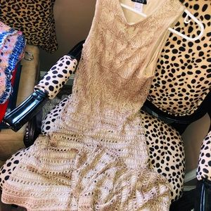 Crochet Gold Maxi Dress